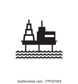 offshore oil platform vector icon