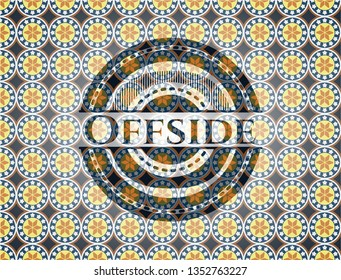 Offside arabesque emblem. arabic decoration.