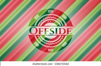 Offside christmas badge.