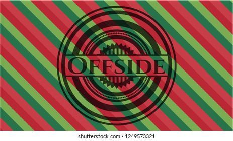 Offside christmas emblem background.
