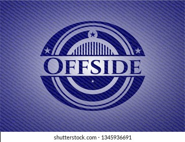 Offside emblem with jean high quality background