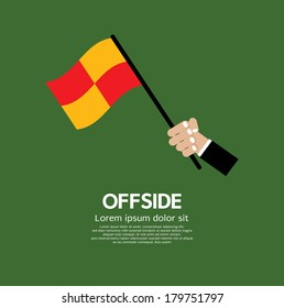 Offside Football Vector Illustration