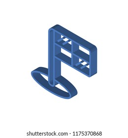Offside isometric left top view 3D icon