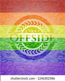 Offside lgbt colors emblem