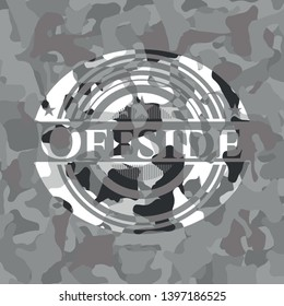 Offside on grey camo pattern