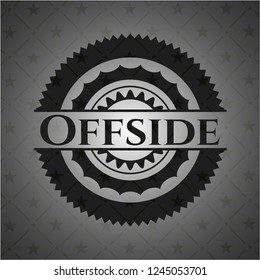 Offside realistic black emblem