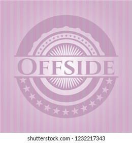 Offside realistic pink emblem