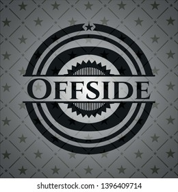 Offside retro style black emblem. Vector Illustration. Detailed.