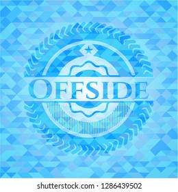 Offside sky blue mosaic emblem