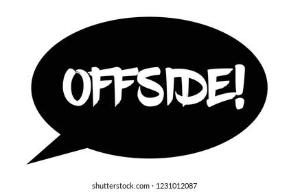 offside stamp on white background. Sign, label, sticker.