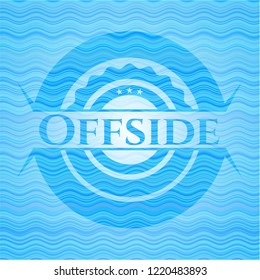 Offside water concept style badge.