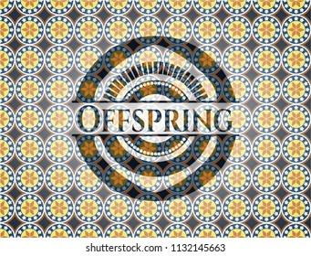 Offspring arabesque emblem. arabic decoration.