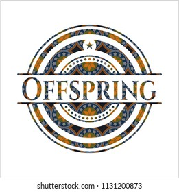 Offspring arabesque emblem background. arabic decoration.