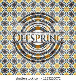 Offspring arabesque style emblem. arabic decoration.