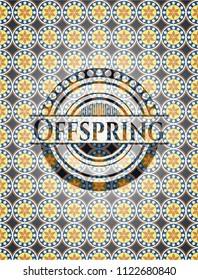 Offspring arabic style emblem. Arabesque decoration.