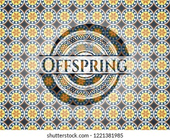 Offspring arabic style emblem. Arabesque decoration.