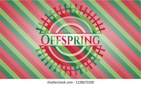Offspring christmas emblem background.