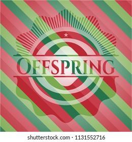 Offspring christmas style emblem.