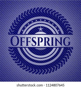 Offspring emblem with denim high quality background