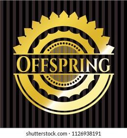 Offspring gold emblem or badge
