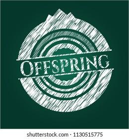 Offspring on blackboard