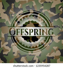 Offspring on camo texture