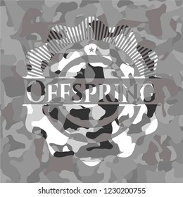 Offspring on grey camo texture