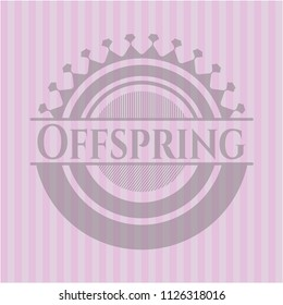 Offspring pink emblem. Retro