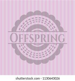 Offspring pink emblem. Vintage.