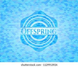 Offspring realistic sky blue mosaic emblem