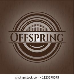 Offspring retro style wooden emblem