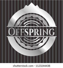 Offspring silvery shiny emblem