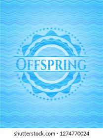 Offspring water wave representation emblem background.