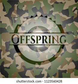 Offspring written on a camouflage texture