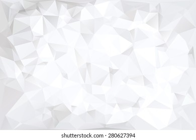 Off-White Polygonal Abstract Background Vector Illustration