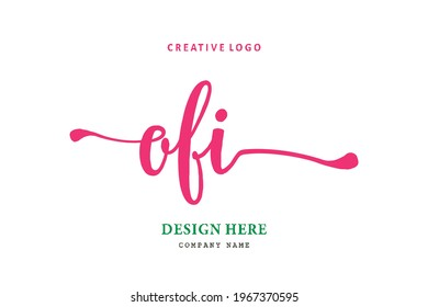 OFI lettering logo is simple, easy to understand and authoritative