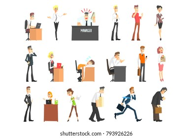 Ofiice Workers Icon Set