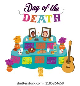 Ofrenda dia muertos altar day of the dead