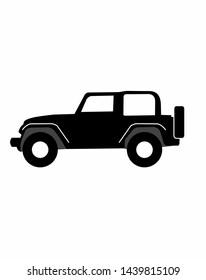 Ofroad rockcrawler or offroad jeep wrangler car vector