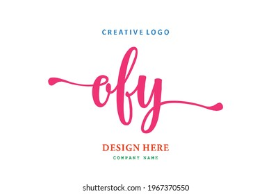 OFY lettering logo is simple, easy to understand and authoritative