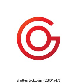 OG GO initial company circle G logo red