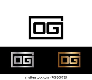 OG initial box shape Logo designs template