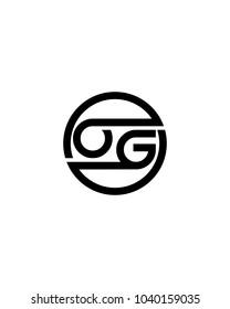 OG initial circle logo template vector