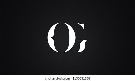 OG Letter  logo Design Template Vector