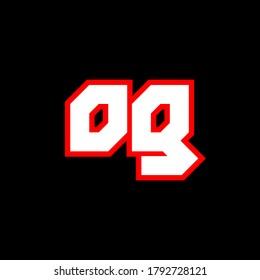 OG logo design, initial OG letter design with sci-fi style. OG logo for game, esport, Technology, Digital, Community or Business. O G sport modern Italic alphabet font. Typography urban style fonts.