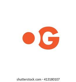 OG Logo. Vector Graphic Branding Letter Element. White Background