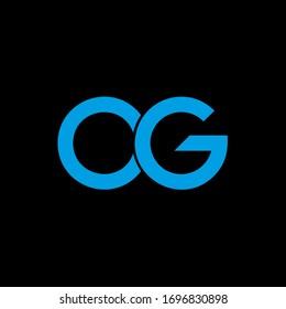 OG monogram logo letter. Initial letter og/go logotype company name design. vector logo for business and company identity. OG Logo Emblem Capital Letter Modern Template.