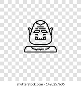 ogre icon from FANTASTIC CHARACTERS collection for mobile concept and web apps icon. Transparent outline, thin line ogre icon for website design and mobile, app development