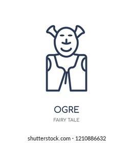 ogre icon. ogre linear symbol design from Fairy tale collection. Simple outline element vector illustration on white background.