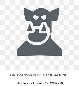 ogre icon. Trendy flat vector ogre icon on transparent background from Fairy Tale collection.